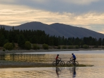 cycling_around_lake_camp